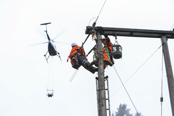 Helicharter Nelson specialise in Power line work.